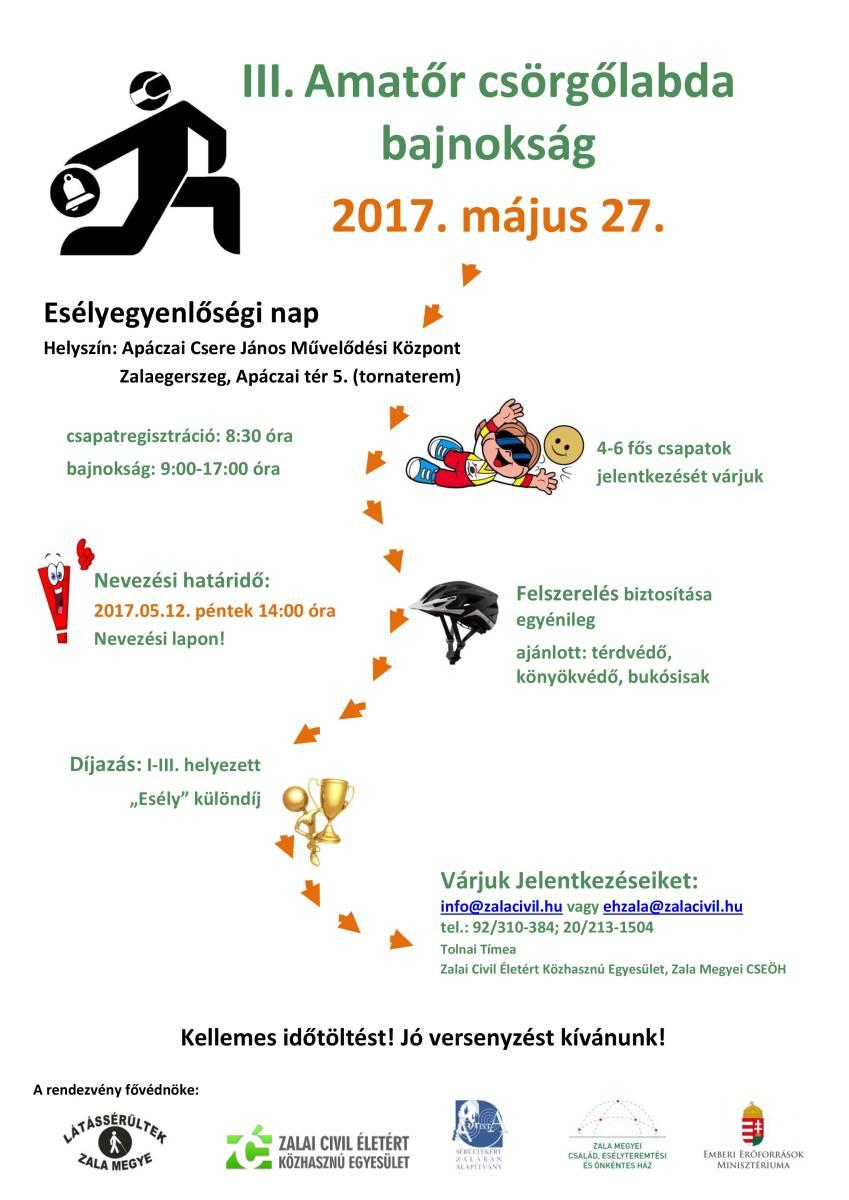 FELHÍVÁS-III.Amatőr Csörgőlabda Bajnokság