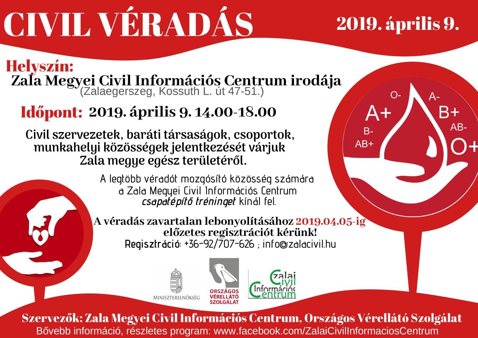 CIVIL-VÉRADÁS plakát facebook-page