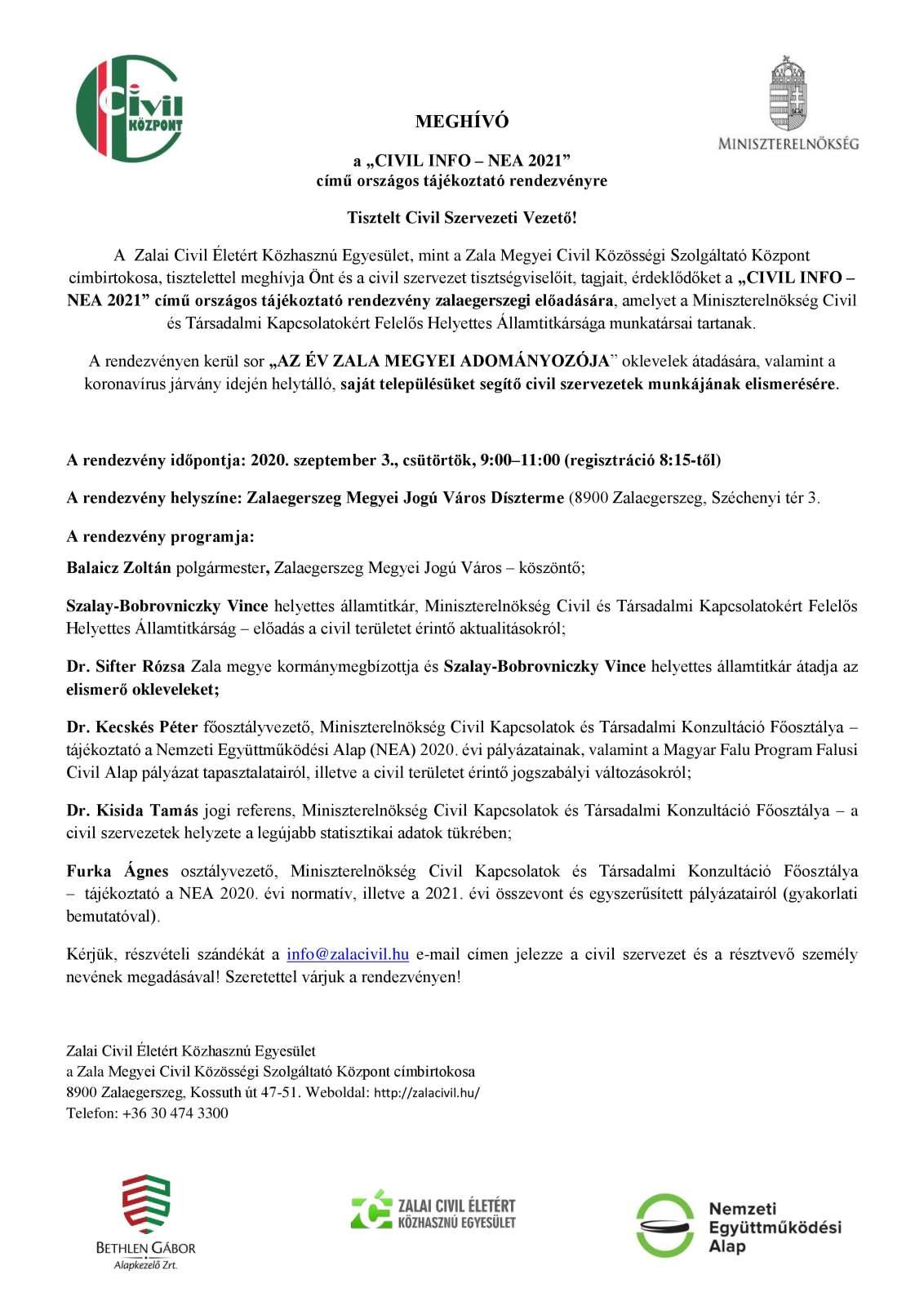 Ad - CIVIL INFO - NEA 2021 országos tájékoztató rendezvény_meghívó ME-page-0-1
